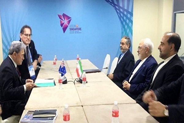 ایران اور نیوزی لینڈ کے وزراء خارجہ کی ملاقات