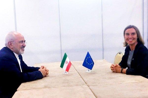 موگرینی اور محمد جواد ظریف کی ملاقات