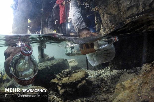 Swimming at Cheshmeh Ali, 'Yaylak of Qajar kings'