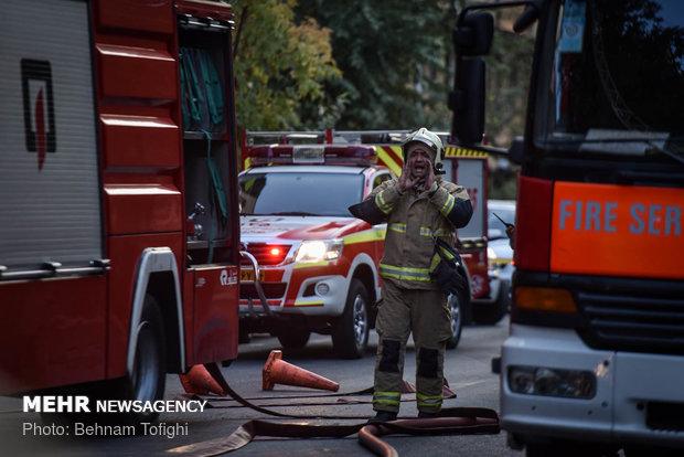حريق وسط طهران