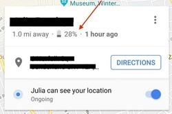 به اشتراک گذاری شارژ باتری با خدمات نقشه گوگل