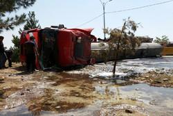 واژگونی تانکر حامل اسید در جاده پلدختر-اندیمشک ۲ کشته برجای گذاشت