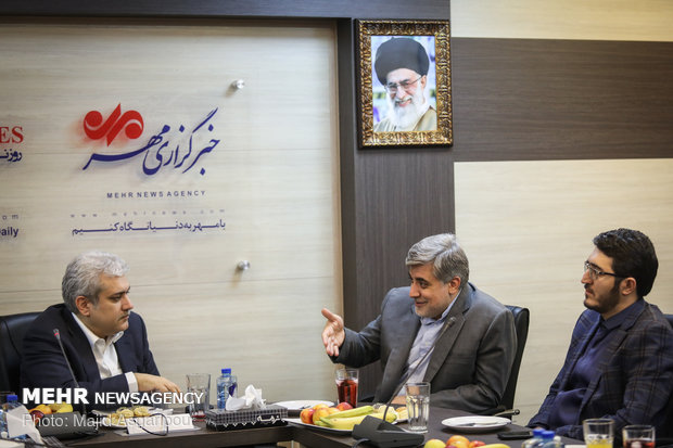 زيارة مساعد رئيس الجمهورية الايراني لمقر وكالة مهر للأنباء