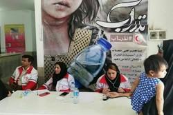 استقرار کاروان سلامت جمعیت هلال احمر استان گلستان در نیمروز