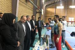 بازدید وزیر ورزش و رئیس کمیته المپیک از اردوی تیم ملی ژیمناستیک