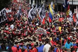 هزاران نفر از طرفداران «مادورو» در حمایت از وی راهپیمایی کردند
