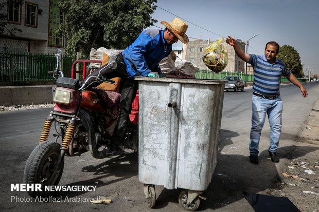 کارگران بازیافت در سطح شهر تهران