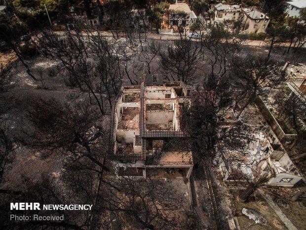 Yunanistan'da orman yangını