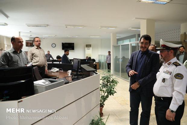 Iran traffic police chief visits MNA HQ