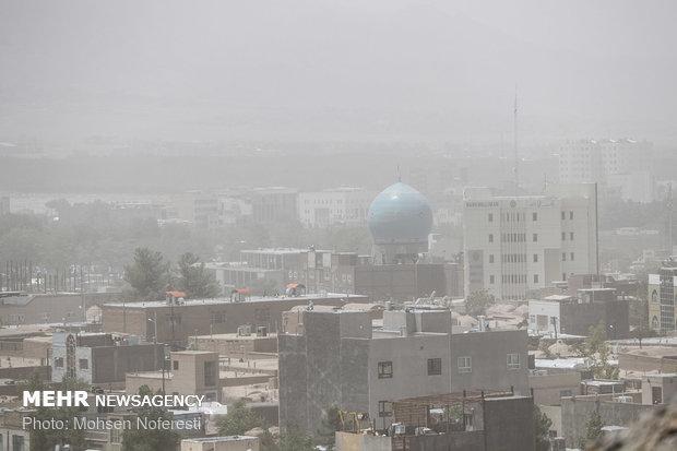 Dust particles storm South Khorasan Province