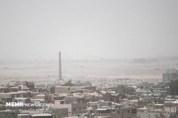 Dust particles storm South Khorasan Province