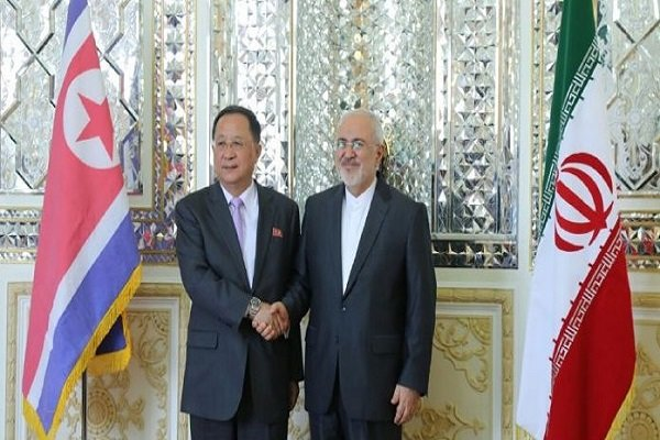 ظریف و وزیر خارجه کره شمالی