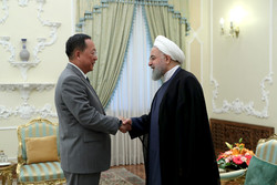 North Korean Foreign Minister Ri Yong Ho -  Iranian President Hassan Rouhani