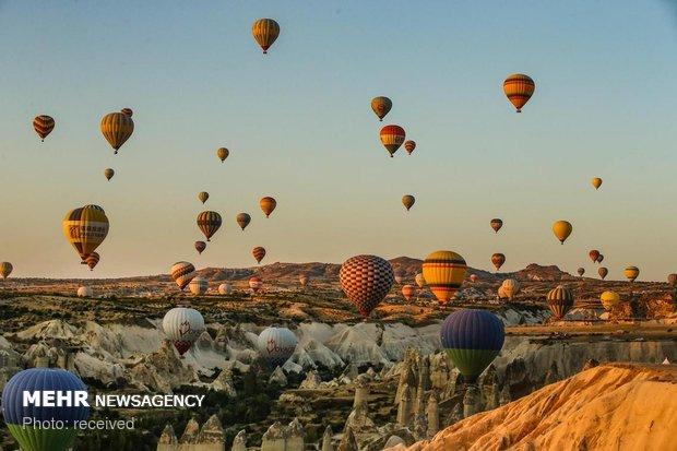 Kapadokya'da balon keyfi