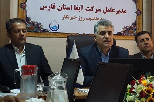 ۱۱ پروژه آبفای فارس در هفته دولت افتتاح می شود