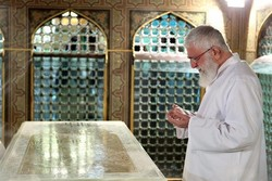 Leader attends Dust Clearing ceremony at Imam Reza Shrine