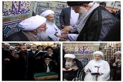 مراجع عظام تقلید در مراسم غبار روبی حرم امام رضا (ع) شرکت کردند