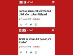 بی بی سی پر اسرائیل کا سایہ/اسرائيلی دباؤ میں غزہ کے بارے میں خبر کی سرخی بدل دی