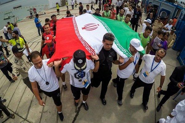 ايران تحرز بجدارة بطولة  مسابقات الغوص لجيوش العالم 2018