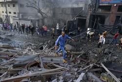 غزہ پر اسرائیل کی وحشیانہ بمباری