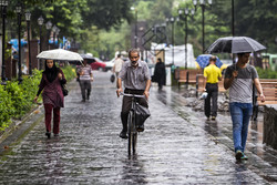 Summer rainfall in Rasht