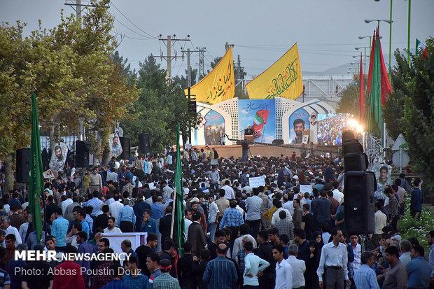 نخستین مراسم سالگرد شهادت شهید محسن حججی در نجف آباد اصفهان برگزار شد.