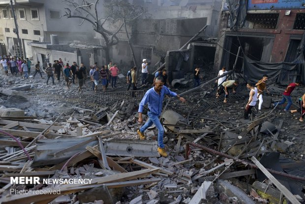 حملات هوایی صهیونیست ها به غزه