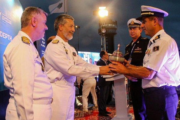 مراسم اختتامیه مسابقات غواصی ارتشهای جهان برگزار شد