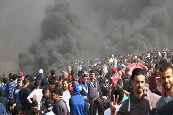 شهادت امدادگر فلسطینی و زخمی شدن ده ها نفر دیگر توسط صهیونیستها