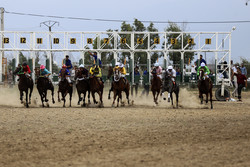 Summer horse racing in Bandar Torkaman