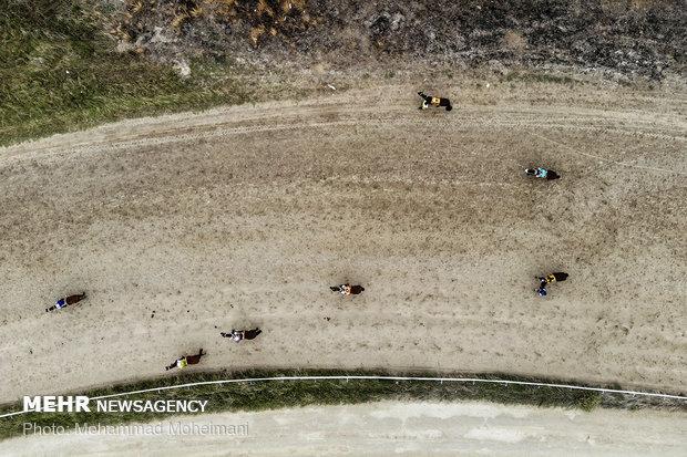"""المسابقات الصيفية لركوب الخيل في مدينة""""بندرتركمن"""""""