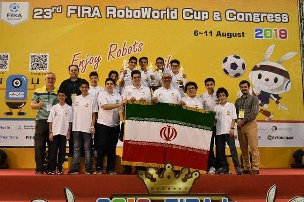 Iranian students shine at 23th FIRA RoboWorld Cup