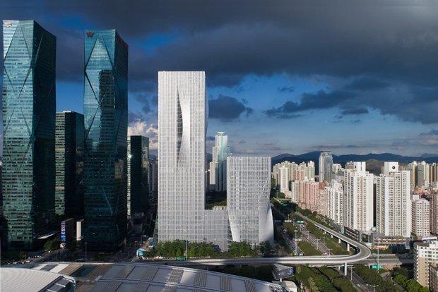 تصاویر برج های چینی با قابلیت کنترل نور خورشید