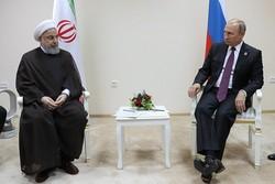 """محادثات بين """"روحاني"""" و""""بوتين"""" حول أهم القضايا المشتركة"""