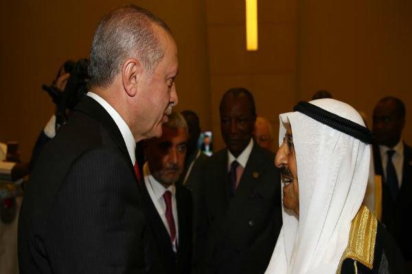 ترکی کے صدر اور کویت کے بادشاہ کی ٹیلیفون پر گفتگو