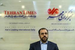 صدر روحانی کے پارلیمانی امور کے معاون نے مہر نیوز ایجنسی کا دورہ کیا