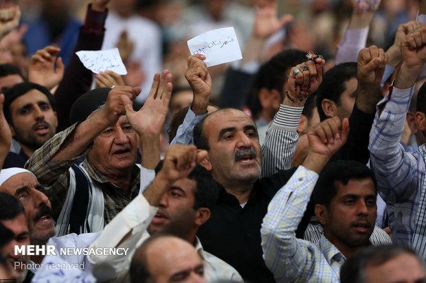 دیدار هزاران نفر از اقشار مختلف مردم با رهبر معظم انقلاب