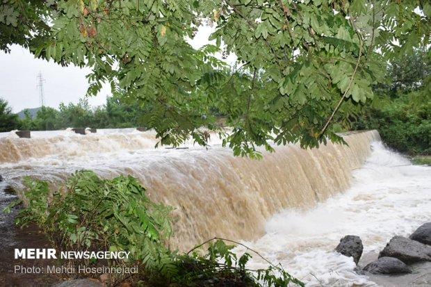 طغیان رودخانه های بخش لوندویل شهرستان مرزی آستارا
