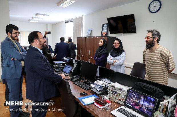 بازدید حسینعلی امیری معاون پارلمانی رئیس جمهور از خبرگزاری مهر