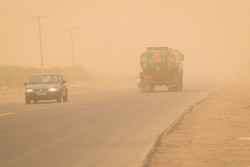 طوفان شن و افزایش آلودگی هوای زابل
