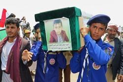 Yemenli çocukların cenaze töreni