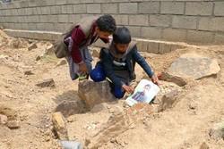 تشييع جثامين الاطفال اليمنيين/صور