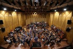 Tehran Symphony Orchestra rehearsal