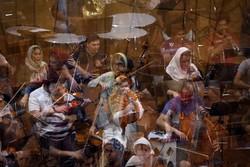 تمرین ارکستر سمفونیک تهران برای سمفونی پیروزی