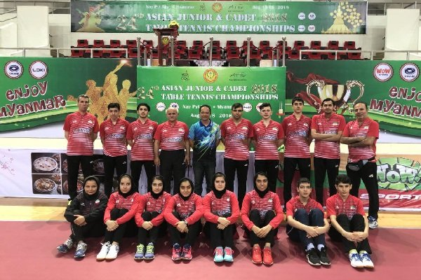 Iran boys' tennis table team advances to semifinal of Asian C'ships