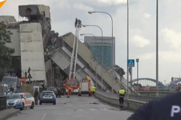 جزئیات حادثه فرو ریختن یک پل در ایتالیا/ ۳۵ نفر کشته شدند