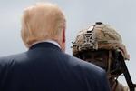 حضور ترامپ در رزمایش نظامیان آمریکایی