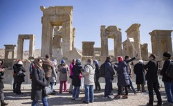 People visit the ruins of Persepolis in southern Iran