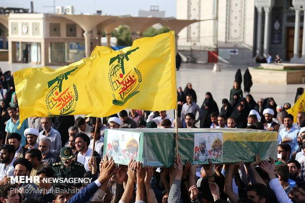 مراسم تشییع شهید مدافع حرم جمیل حسین