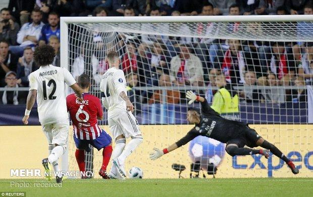 دیدار تیم های فوتبال رئال مادرید و اتلتیکو مادرید